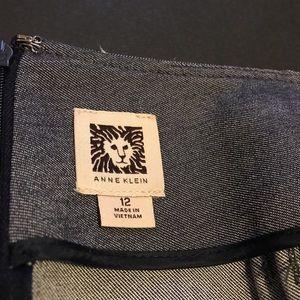 Anne Klein Skirts - Anne Klein grey pleated work skirt.